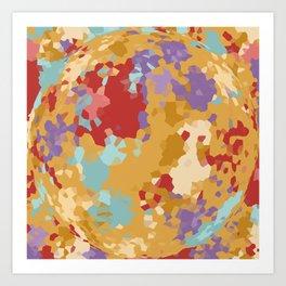 Color Crystall Ball Art Print