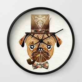 mister pug Wall Clock