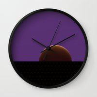 moonrise Wall Clocks featuring Moonrise by Lyle Hatch