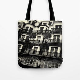 Houses on Hastings Seafront Tote Bag