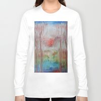 coral Long Sleeve T-shirts featuring Coral by Terese Dombrowski