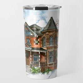 Victorian Winter Travel Mug