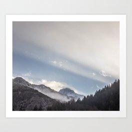 Driving Through Austria Art Print