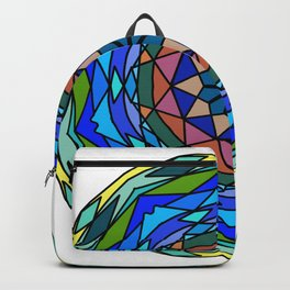 Zentangl creativity Round ornament Backpack