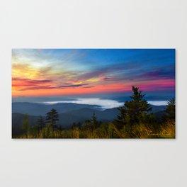 Sunrise In The smokies Canvas Print