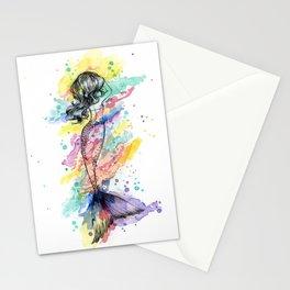 Splash Rainbow Mermaid Stationery Cards