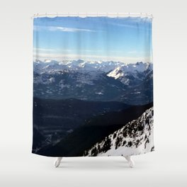 Crispy light air up here Shower Curtain