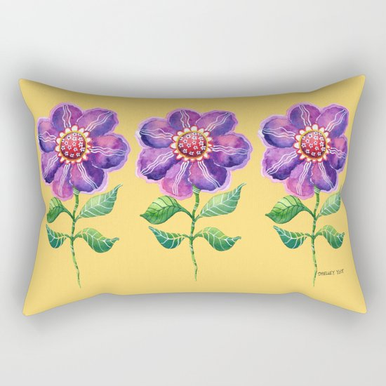 A Study in Violet Rectangular Pillow