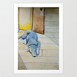 Sleeping little dog! Art Print