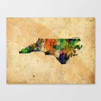 north carolina Canvas Prints featuring North Carolina by TiannaHarman