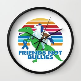 Anti-Bullying Sloth Unicorn T-Rex Dinosaur Wall Clock