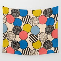 eames Wall Tapestries featuring Memphis Inspired Pattern 5 by Season of Victory