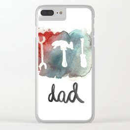 DAD TOOLS - COLOR Clear iPhone Case