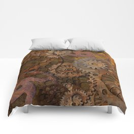 Changing Gear - Steampunk Gears & Cogs Comforters