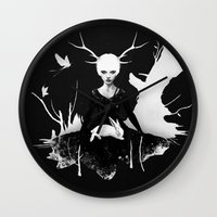 ruben Wall Clocks featuring Space Within by Ruben Ireland