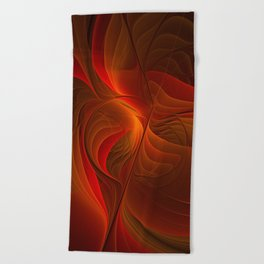 Warmth, Abstract Fractal Art Beach Towel