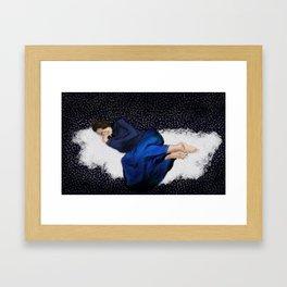 Sleeping in Space Framed Art Print
