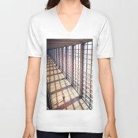 pilot V-neck T-shirts featuring The Pilot by Ronen Goldman