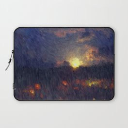 Full moon in the summer night sky Laptop Sleeve