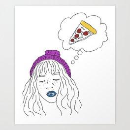 dreaming of pizza Art Print
