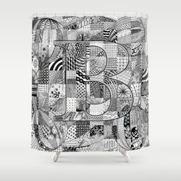 The Letter B Shower Curtain