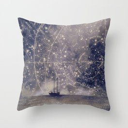 Star maps Throw Pillow