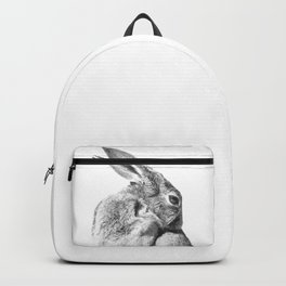 Black and white rabbit Backpack