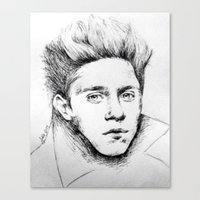 niall Canvas Prints featuring Niall Drawing by Adele_F