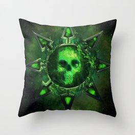 Chaos Icon - Nurgle Throw Pillow
