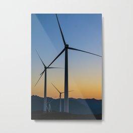 A Sunset so Windy Metal Print