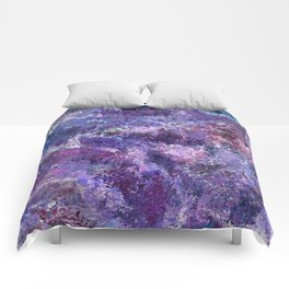 Violet Drops Abstraction Comforters