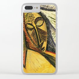 Pablo Picasso - Head of A Sleeping Woman Clear iPhone Case