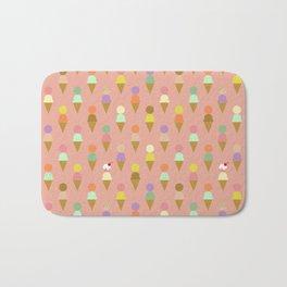 Ice Cream Cone Pattern Pink Robayre Bath Mat
