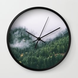 Forest Fog XVII Wall Clock