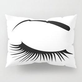 Closed Eyelashes Right Eye Pillow Sham