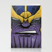 thanos Stationery Cards featuring The Mad Titan by chris panila