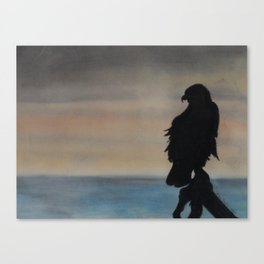 Tranquil Eagle Silhouette Canvas Print