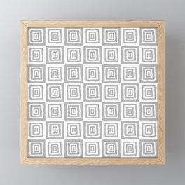 Mid Century Modern Geometric Checker 821 Gray Framed Mini Art Print