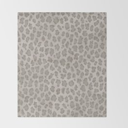 Vintage grange pastel color leopard print Throw Blanket
