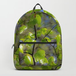 Glowing birch leaves Backpack
