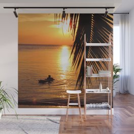 Island sunset relaxation Wall Mural
