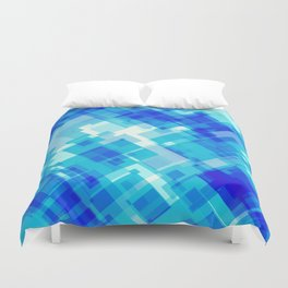 Digital Blue Pool Duvet Cover
