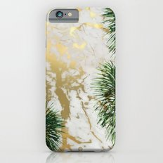 gold marble texture with palm trees Slim Case iPhone 6s