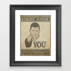 Shepard Needs You Framed Art Print