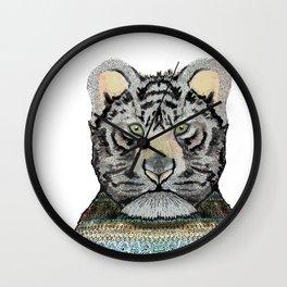 Tiger Knit Wall Clock