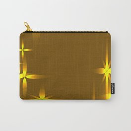 Golden background with shining light metal stars. Carry-All Pouch