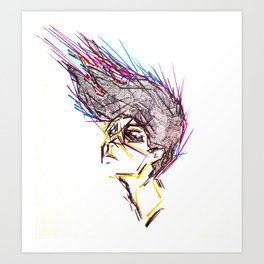 Lines In Motion Art Print