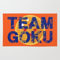 goku Area & Throw Rugs featuring Team Goku by AJF89