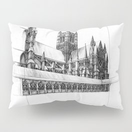 Lincoln Cathedral Pillow Sham