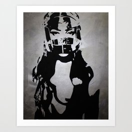 Don't Ride Without A Helmet Art Print